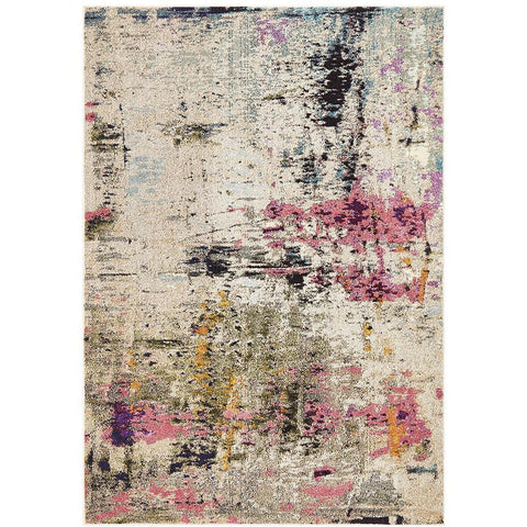 Aberdeen 1479 Abstract Pink Multi Coloured Patterned Modern Designer Rug - Rugs Of Beauty - 1