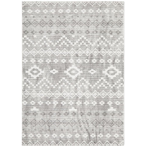 Dalsbruk 270 Charcoal Grey Beige Transitional Rug - Rugs Of Beauty - 1