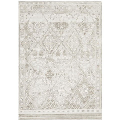 Dalsbruk 290 Silver Grey Beige Transitional Rug - Rugs Of Beauty - 1