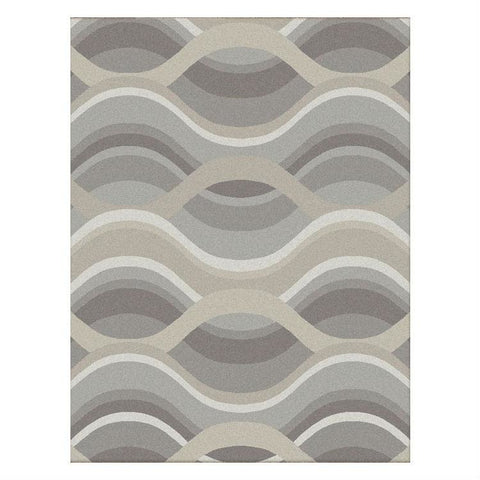 Caldwell Beige Thick Wave Abstract Patterned Modern Rug - 1