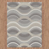 Caldwell Beige Thick Wave Abstract Patterned Modern Rug - 4