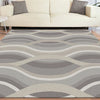 Caldwell Beige Thick Wave Abstract Patterned Modern Rug - 5