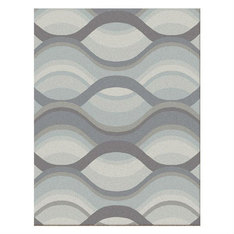 Caldwell Grey Thick Wave Abstract Patterned Modern Rug - 1