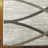 Caldwell Cream Thin Wave Abstract Patterned Modern Rug - 2