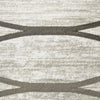 Caldwell Cream Thin Wave Abstract Patterned Modern Rug - 3