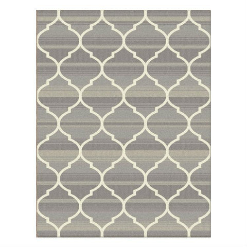 Caldwell Lattice Beige Trellis Patterned Modern Rug - 1