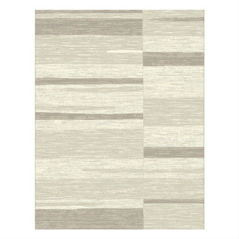 Caldwell Cream Taupe Abstract Patterned Modern Rug - 1