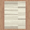 Caldwell Cream Taupe Abstract Patterned Modern Rug - 5