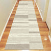 Caldwell Cream Taupe Abstract Patterned Modern Rug Runner