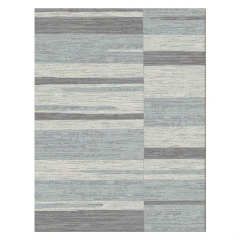 Caldwell Grey White Abstract Patterned Modern Rug - 1