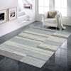 Caldwell Grey White Abstract Patterned Modern Rug - 2