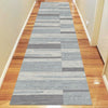 Caldwell Grey White Abstract Patterned Modern Rug Runner