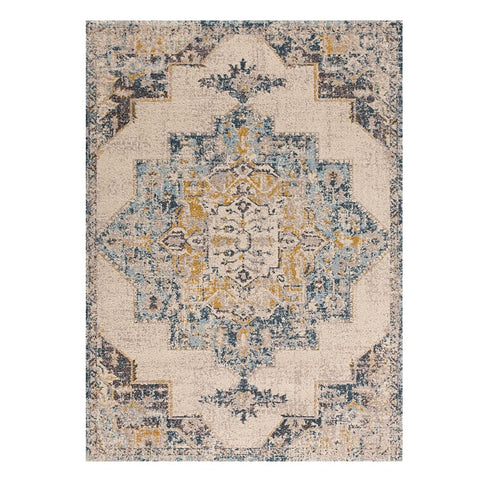 Narva 417 Multi Coloured Transitional Patterned Rug - Rugs Of Beauty - 1