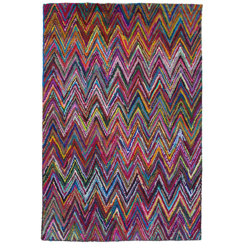 Baraz Multi Colour Chevron Patterned Rug - Rugs Of Beauty