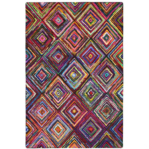 Baraz Multi Colour Diamond Patterned Rug - Rugs Of Beauty