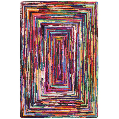 Baraz Multi Colour Perspective Patterned Rug - Rugs Of Beauty