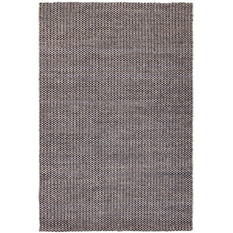 Latrell Charcoal and Beige Checkered Patterned Wool Rayon Rug - Rugs Of Beauty