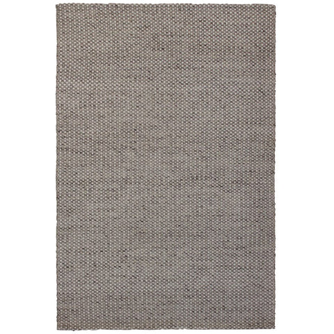 Latrell Beige and White Checkered Patterned Wool Rayon Rug - Rugs Of Beauty