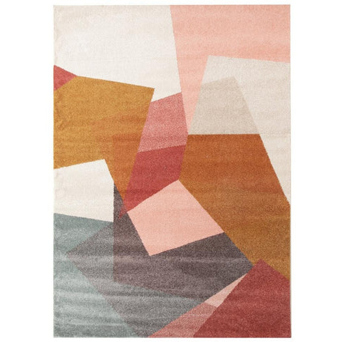 Lima Blush Abstract Geometric Patterned Modern Rug - Rugs Of Beauty - 1