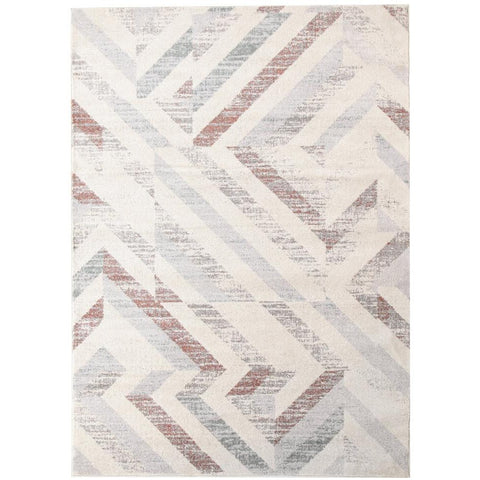 Lima Grey Beige Rust Faded Abstract Lines Patterned Modern Rug - Rugs Of Beauty