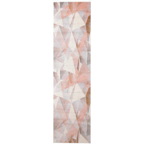 Lima Blush Pastel Abstract Geometric Patterned Modern Runner Rug - Rugs Of Beauty - 1