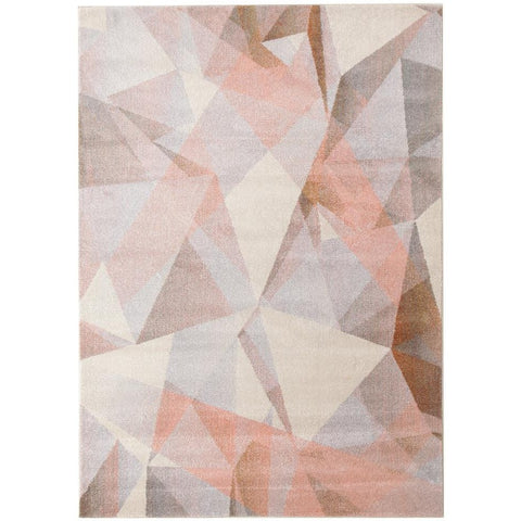 Lima Blush Pastel Abstract Geometric Patterned Modern Rug - Rugs Of Beauty - 1