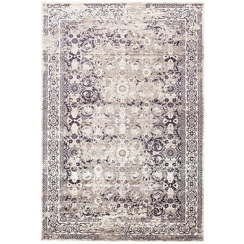 Lisala 456 Purple Taupe Beige Traditional Vintage Patterned Rug - Rugs Of Beauty - 1