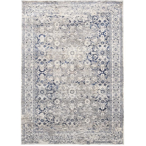 Lisala 457 Blue Taupe Beige Traditional Vintage Patterned Rug - Rugs Of Beauty - 1