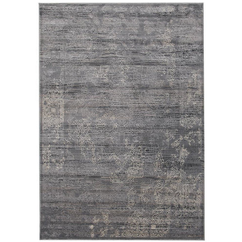 Lisala 458 Grey Beige Traditional Vintage Patterned Rug - Rugs Of Beauty - 1
