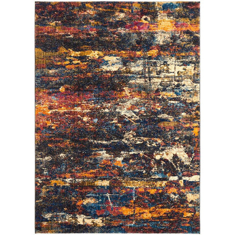 Potenza 491 Black Multi Colour Modern Rug - Rugs Of Beauty - 1