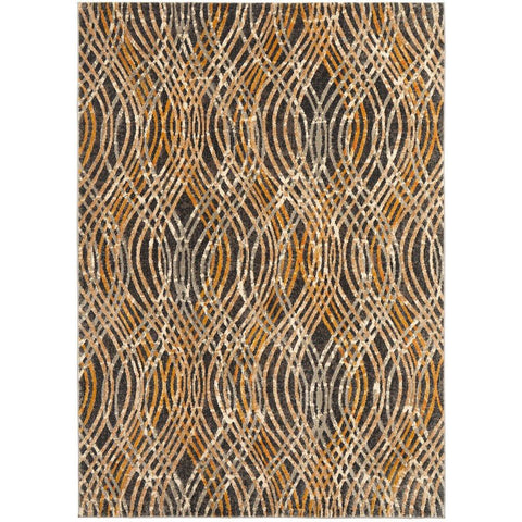 Potenza 492 Charcoal Multi Colour Modern Rug - Rugs Of Beauty - 1