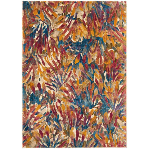 Potenza 495 Tropical Multi Colour Patterned Modern Rug - Rugs Of Beauty - 1