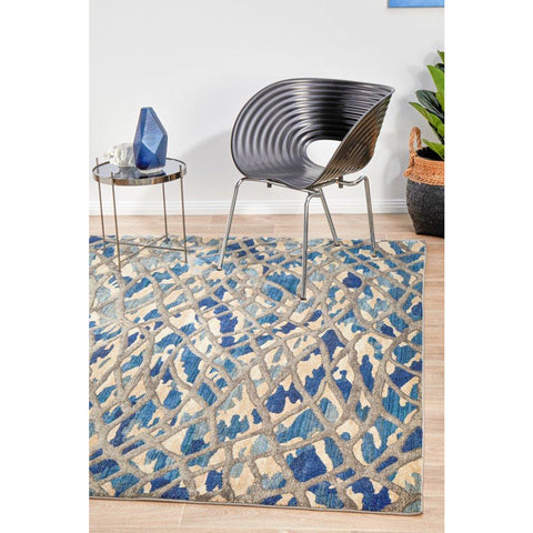 Dream Scape 856 Blue Designer Rug - Rugs Of Beauty - 1