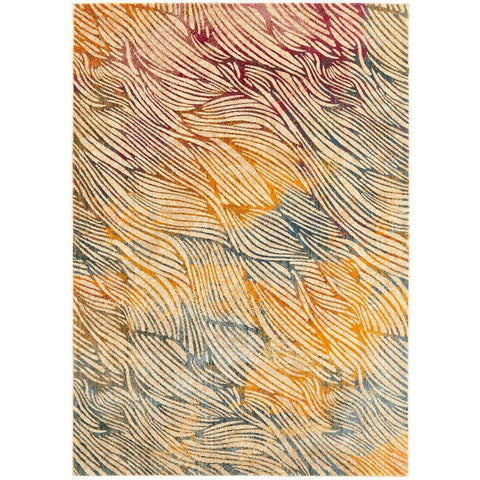 Potenza 497 Multi Colour Abstract Patterned Modern Rug - Rugs Of Beauty - 1