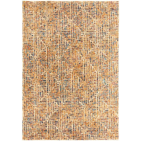 Potenza 499 Multi Colour Geometric Patterned Modern Rug - Rugs Of Beauty - 1