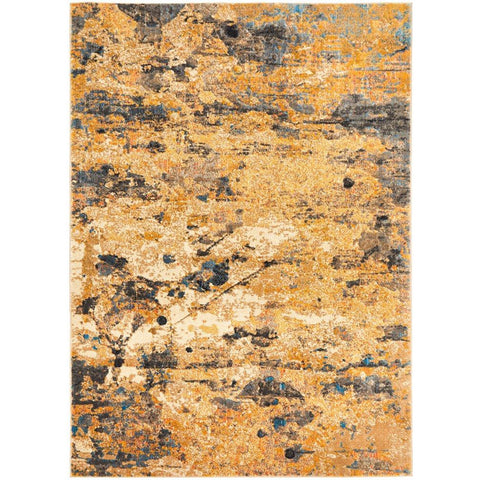 Potenza 500 Rust Multi Colour Abstract Patterned Modern Rug - Rugs Of Beauty - 1