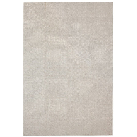 Tawaret Grey Diamond Patterned Wool Jute Dhurrie Rug - Rugs Of Beauty