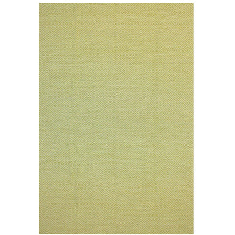 Tawaret Lime Green Diamond Patterned Wool Jute Dhurrie Rug - Rugs Of Beauty