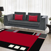 Dover Red Abstract Multi Coloured Border Modern Rug - 5
