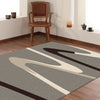 Dover Brown Beige Taupe Abstract Wave Pattern Grey Modern Rug - 2