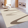 Dover Brown Beige Taupe Abstract Wave Pattern Beige Modern Rug - 2