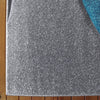 Dover Turquoise Blue Dark Grey Beige Abstract Wave Pattern Light Grey Modern Rug - 2