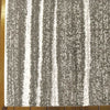Dover Grey Beige Abstract Lines Modern Rug - 3