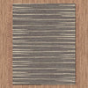 Dover Grey Beige Abstract Lines Modern Rug - 4