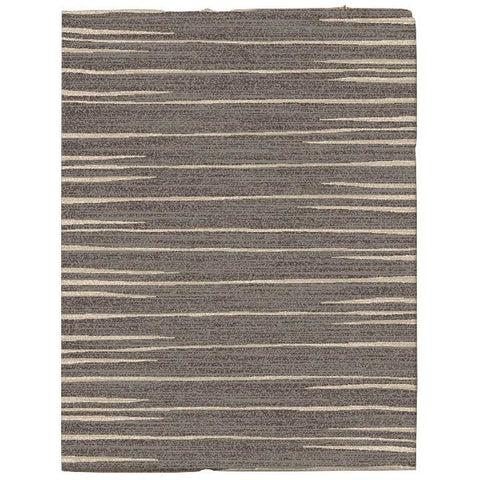Dover Grey Beige Abstract Lines Modern Rug - 1