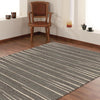 Dover Grey Beige Abstract Lines Modern Rug - 5