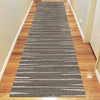 Dover Grey Beige Abstract Lines Modern Rug - Runner