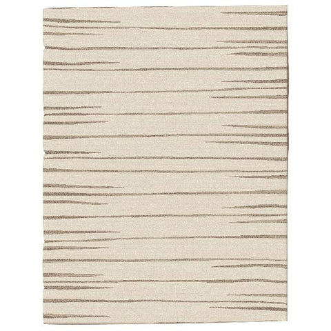 Dover Beige Taupe Abstract Lines Modern Rug - 1