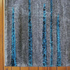 Dover Grey Black Blue Abstract Lines Modern Rug - 2