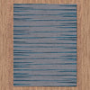Dover Grey Black Blue Abstract Lines Modern Rug - 4